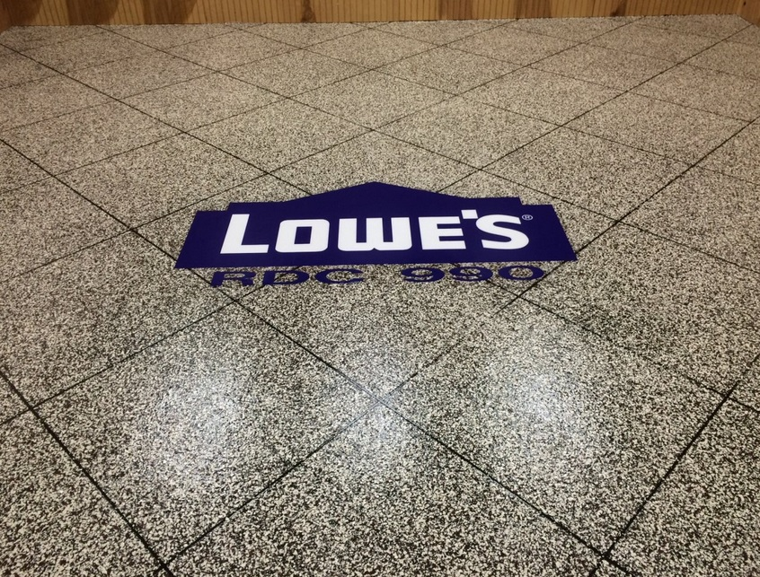 Epoxy Flake Flooring | Floor Logo | New City New York